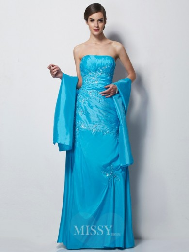 A-Line Sweetheart Sleeveless Applique Taffeta Floor-Length Mother of the Bride Dress
