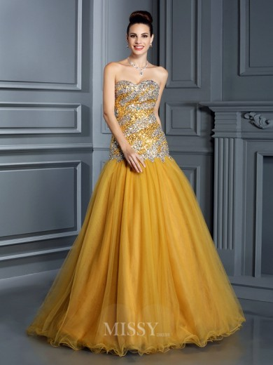 A-Line/Princess Sleeveless Sweetheart Ruffles Floor-Length Satin Dresses
