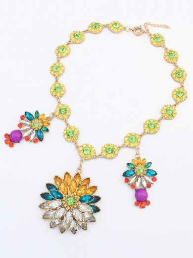 Occident Bohemia Collision color Necklace