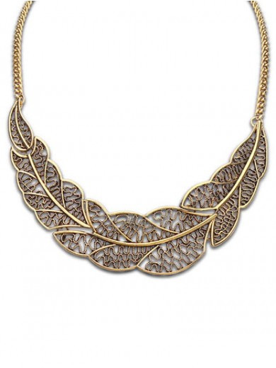 Occident Foreign orders Simple Hollow Tree leaf Necklace