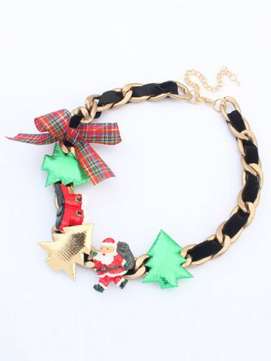 Occident Personality Christmas Series Necklace