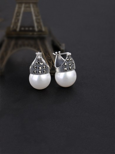 Classic S925 Silver With Pearl Earrings