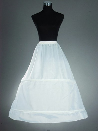 Nylon A-Line 1 Tier Floor Length Slip Style/Wedding Petticoat