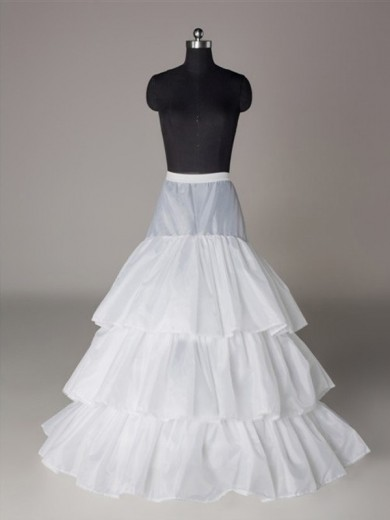 Nylon A-Line 3 Tier Floor Length Slip Style/Wedding Petticoat