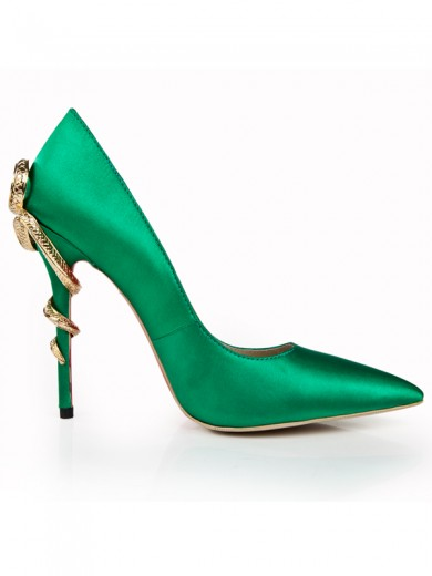 Green Pointed Toe High Heels