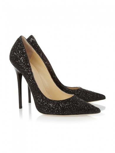 Sequin Pointed Toe High Heels CA