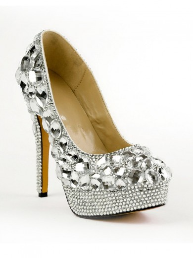 Beautiful Rubber Rhinestones High Heels