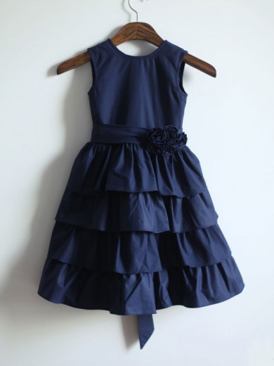A-line/Princess Jewel Sleeveless Sash/Ribbon/Belt Floor-length Taffeta Dresses