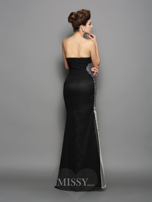 Trumpet/Mermaid Sleeveless Sweetheart Chiffon Ruched Floor-Length Dresses