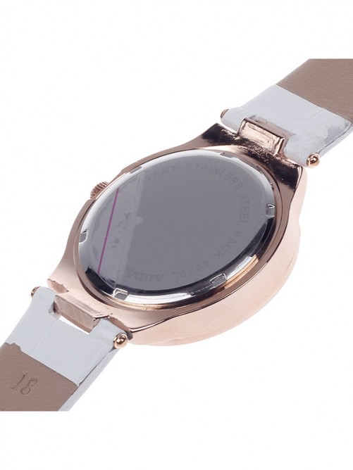 AODASI 4279L Stylish Women's Quartz Wristwatch with Rhinestone Decoration - White+Rose Gold