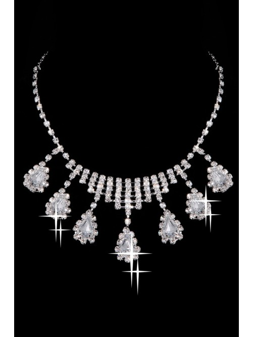 Awesome Alloy Clear Wedding Headpieces Necklaces Earrings Set