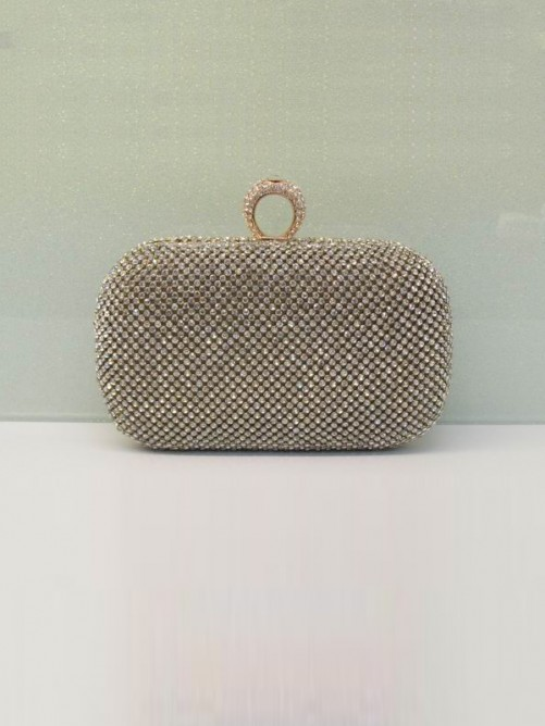 Rhinestones Evening Handbag(BB202203NA7)