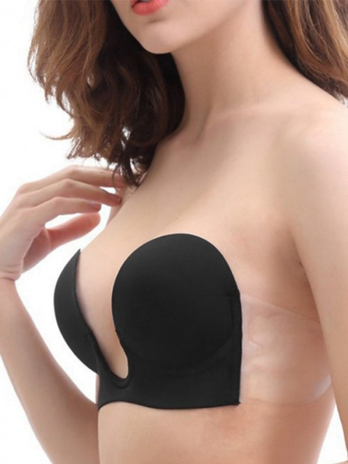 Silicone 3/4 Cup Strapless Invisible Wedding Party Bra