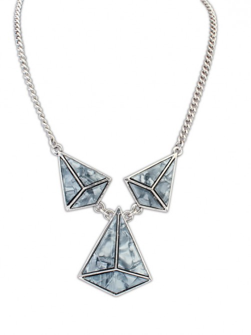 Occident Retro Punk Hyperbolic Geometry Necklace