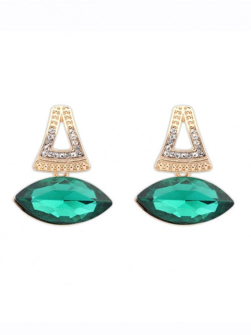 Occident Retro Temperament Gemstone Boutique Earrings