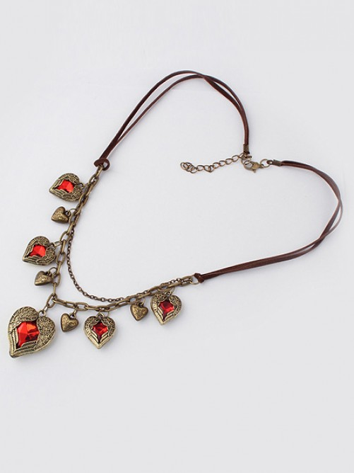 Occident Retro Exquisite Angel Heart Stylish Necklace