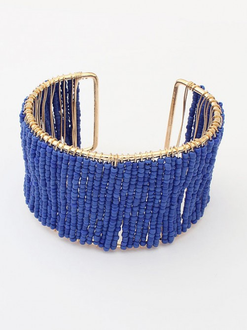 Occident Summer Handwork Beaded opening Bracelet