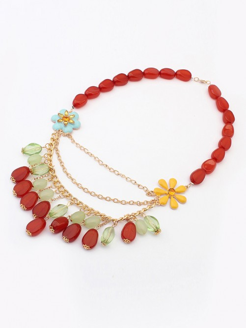 Occident Beautiful woman Stylish Jade Necklace