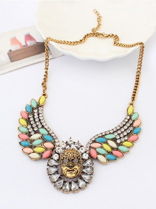 Occident Stylish Exotic Punk Mask Necklace