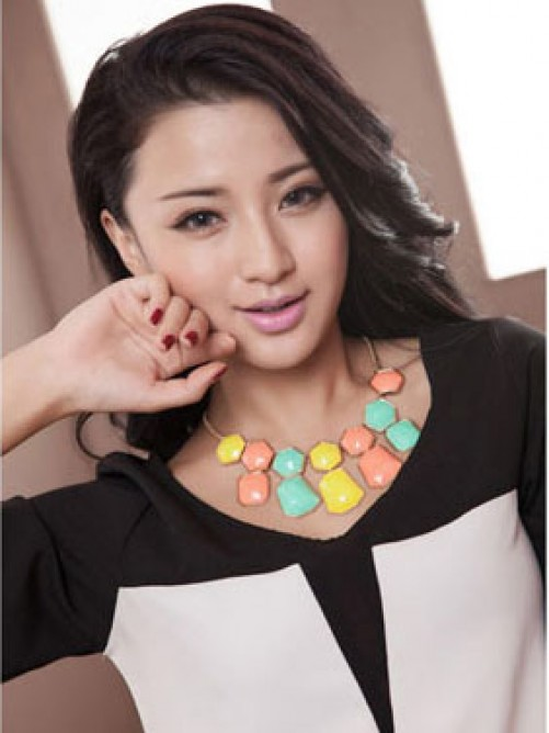 Occident Exquisite Big Gemstone Necklace