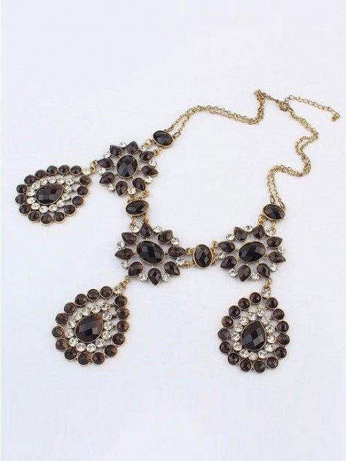 Occident Bohemia Retro Water Drop Necklace