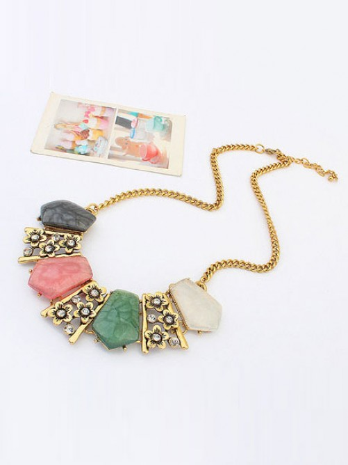 Occident Trendy Major suit Luxurious Gemstone Necklace