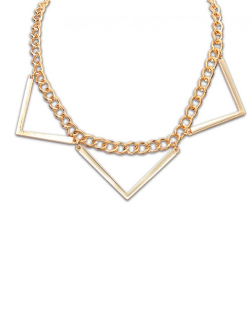 Occident Hyperbolic Punk Triangle Geometry Necklace J1109815JR
