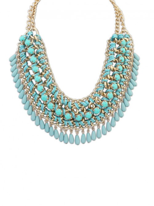 Occident Ethnic Woven Street Shooting Retro Necklace J1109842JR