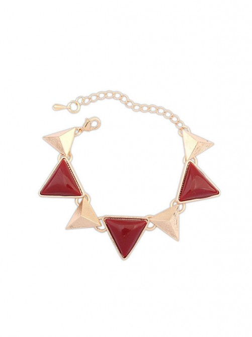 Occident Retro Punk Geometry Triangle Bracelets