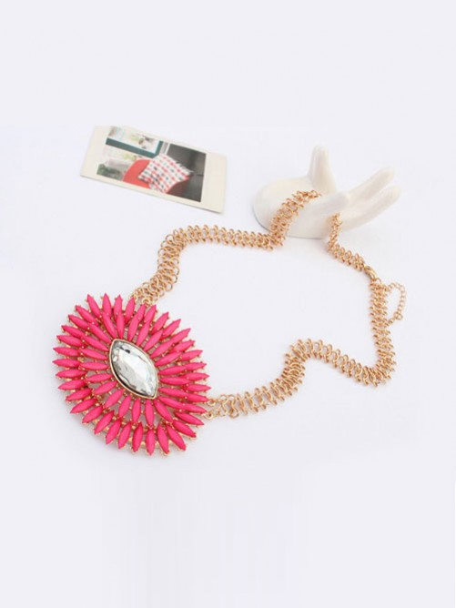 Occident Fashionable Oval Simple Fresh Necklace
