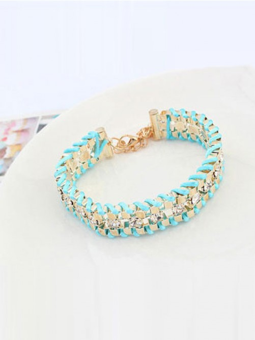 Occident Ethnic Customs Woven Rhinestone Bracelets
