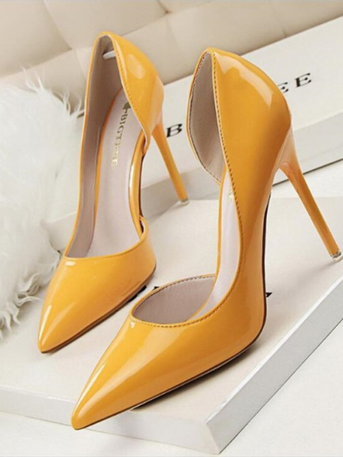 Stiletto Heel PU Closed Toe High Heels