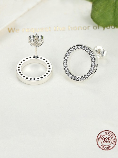 Trending Circular S925 Silver Earrings
