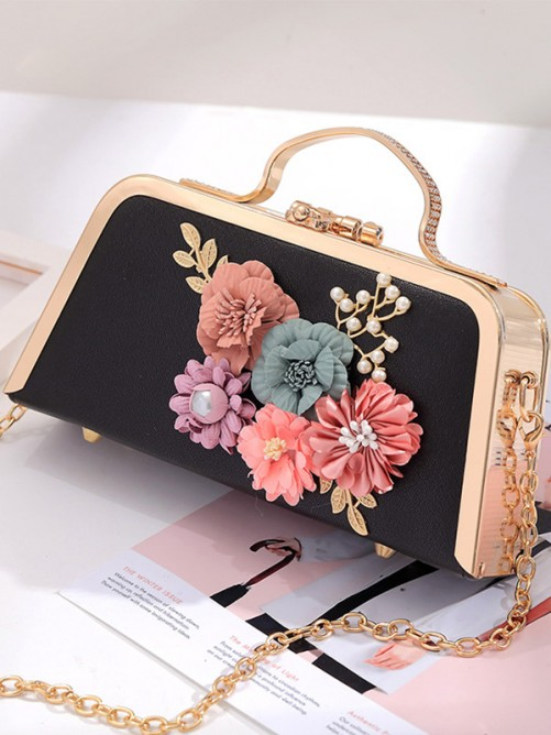 New Party Handbags With Flowers