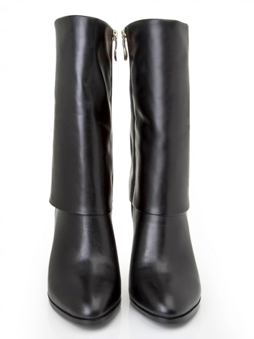 Black Leather Boots S5LSDN1189LF