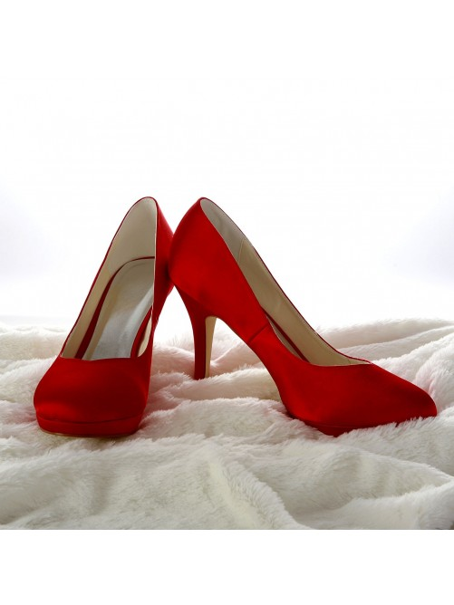 Satin Stiletto Heel Pumps Wedding Shoes