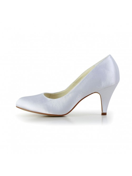 Simples Satin Closed Toe Shoes