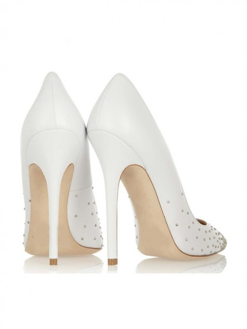 White High Heels Pointed Shoes Canada