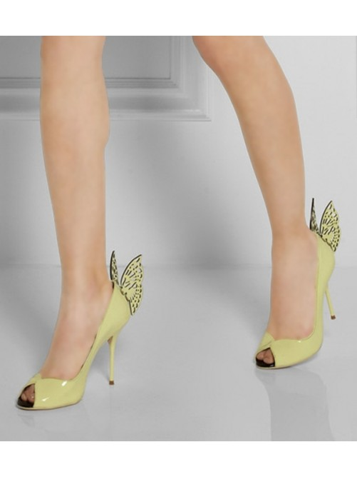 Patent Leather Peep Toe High Heels CA