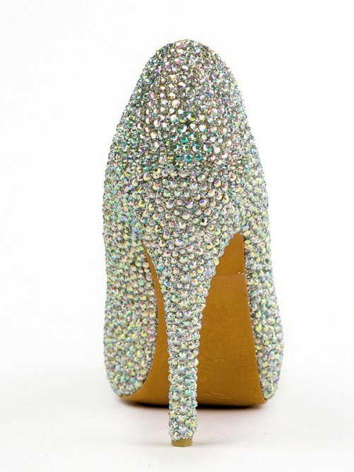 Rubber Rhinestones High Heels