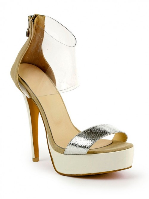 Rubber Patent Leather Sandals