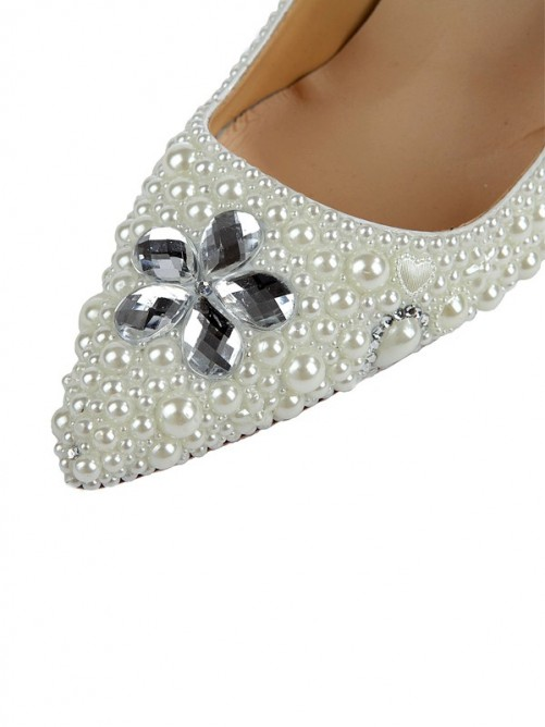 Pearls Pointed Toe Sandals