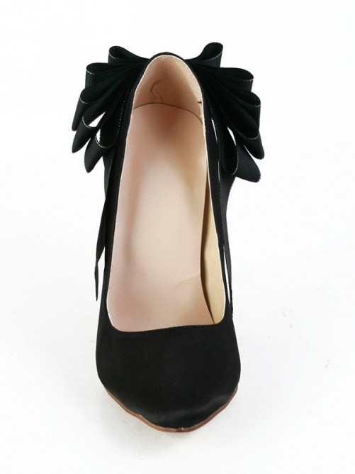 Silk Pointed Toe High Heels