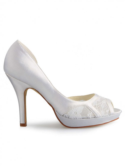 White Rubber High Heels Sandals