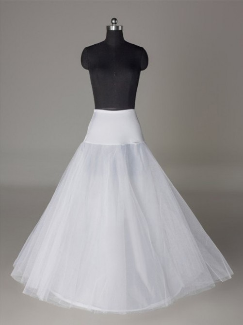 A-Line 2 Tier Floor Length Tulle Netting Slip Style/Wedding Petticoats