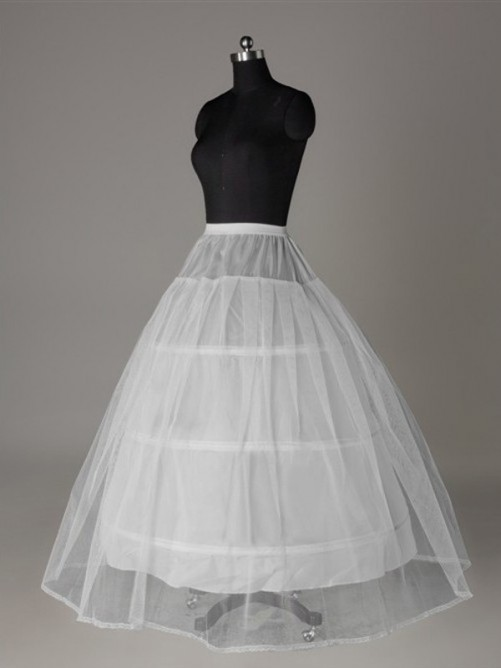 Ball-Gown Tulle Netting 2 Tier Floor Length Slip Style/Wedding Petticoats