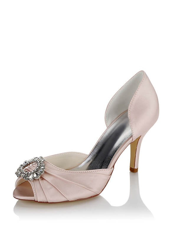 3576a4f99ca8 Women s Satin PU Peep Toe Stiletto Heel Wedding Shoes - Shoes - Accessories  - MissyDress