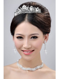 Elegant Wedding Headpieces Necklaces Earrings Set