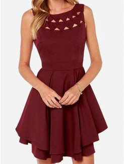 Princess Sleeveless Scoop Jersey Short/Mini Homecoming Dresses