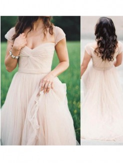 A-Line Sweetheart Sleeveless Floor-Length Ruched Chiffon Gown